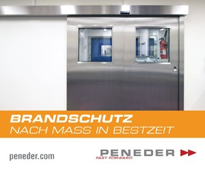 Banner Peneder Brandschutztore