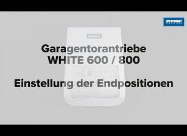 LINDPOINTNER Antrieb | WHITE 1000 - Endpositionen AUF/ZU und Lernfahrten (DE)