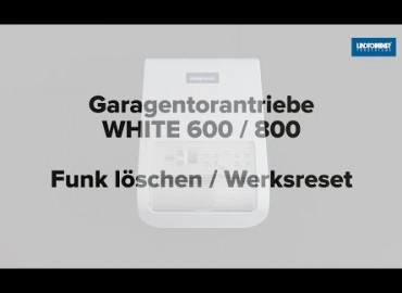 LINDPOINTNER Antrieb | WHITE 1000 - Funk löschen und Werksreset (DE)