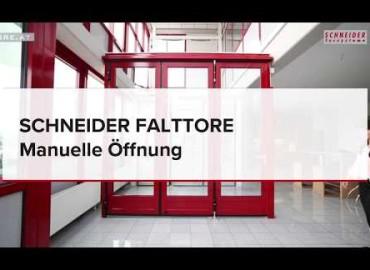 SCHNEIDER Falttore - Manuelle Öffnung | Produktvideo