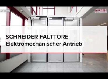 SCHNEIDER Falttore - Elektromechanische Öffnung | Produktvideo